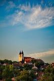 Tihany abbey in Hungary Stock Photos