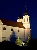 The Tihany Abbey at night Royalty Free Stock Photography
