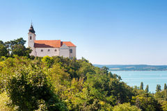 Tihany abbotskloster, sjö Balaton, Ungern Royaltyfria Bilder