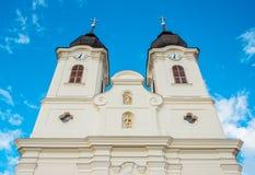 Tihany-Abtei und netter bewölkter Hintergrund Stockbild