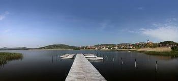 tihany balaton的湖 免版税图库摄影