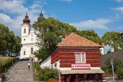 Tihany Dorf Stockbild