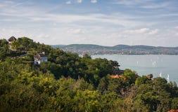 Tihany and lake Balaton. Stock Images