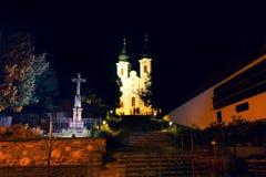 Tihany opactwo jest Benedyktyńskim monasterem w Węgry Obraz Royalty Free