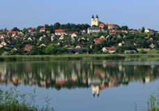 The Tihany peninsula in Hungary. The Abbey in Tihany, Hungary Royalty Free Stock Photo