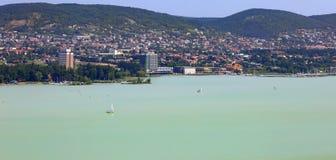 The Tihany peninsula in Hungary Stock Images