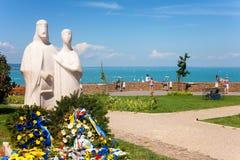 Tihany, statua królewiątko Andrew i Anastasia, Ja Obraz Royalty Free