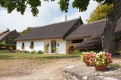 Tihany, Węgry Sierpień 28 2017: Stary dom na wsi w Tihany Obrazy Royalty Free