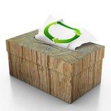 Tiissue box  on white background Royalty Free Stock Image