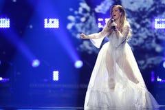 Tijana Bogicevic από τη Σερβία Eurovision 2017 Στοκ εικόνα με δικαίωμα ελεύθερης χρήσης