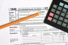 Tijd 1 van de belasting Stock Foto