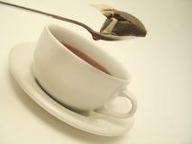 Tijd 1 van de thee stock afbeeldingen