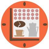 Tijd aan koffie Stock Afbeeldingen