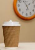Tijd aan koffiepauze Stock Foto's