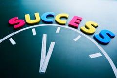 Tijd aan succesconcept royalty-vrije stock afbeelding