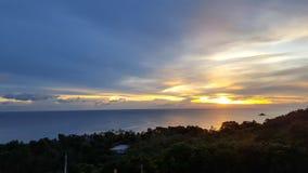 Tijd aan zonsondergang Stock Foto