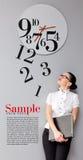 Tijd in bureau Royalty-vrije Stock Foto's