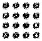 Tijd eenvoudig pictogrammen Stock Foto