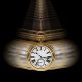 Tijd en de zwarte van de Motie Stock Afbeeldingen