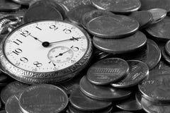 Tijd en het Concept van het Geld stock foto