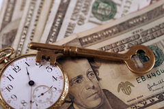 Tijd en het Concept van het Geld Royalty-vrije Stock Afbeeldingen