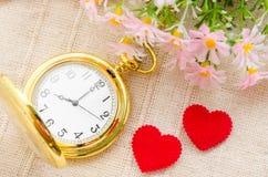 tijd en liefdeconcept Stock Afbeeldingen
