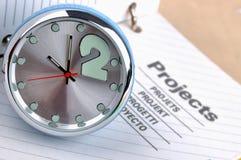 Tijd en projecten Stock Foto