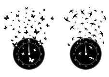 Tijd en vrijheid vector illustratie