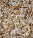 Tijd gegaan door klokken en uurwerk Stock Afbeelding
