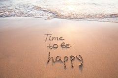 Tijd gelukkig te zijn, gelukconcept stock afbeelding