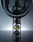 tijd-klok-oog-kijker Royalty-vrije Stock Foto