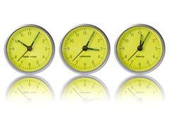 Tijd in New York, Londen en Tokyo Stock Foto