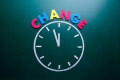 Tijd om concept te veranderen Stock Afbeelding