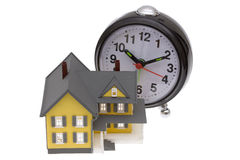 Tijd om een huis te kopen stock foto
