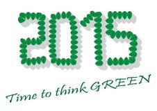Tijd om Groene 2015 te denken Stock Afbeeldingen