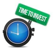 Tijd om het ontwerp van de conceptenillustratie te investeren Stock Foto's