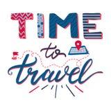 Tijd om het van letters voorzien te reizen Royalty-vrije Stock Foto