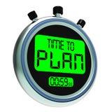 Tijd om Messager te plannen die Organiseert Strategie en Planning tonen Stock Afbeelding