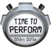 Tijd om Nodig de Klokactie van de Chronometertijdopnemer uit te voeren Stock Foto's