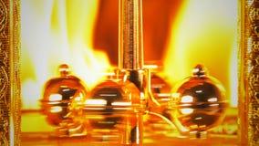 Tijd op brand het branden uren stock footage