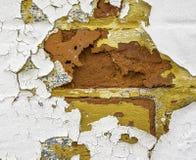 Tijd-rotte geschilderde muur stock afbeelding
