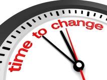 Tijd te veranderen Royalty-vrije Stock Foto's