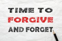 Tijd te vergeven en te vergeten stock foto's