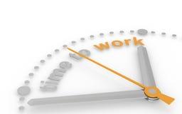 Tijd te werken. Abstracte klok. Royalty-vrije Stock Afbeeldingen