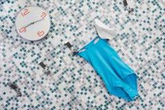 Tijd te zwemmen tijd te doen aquagym Royalty-vrije Stock Fotografie