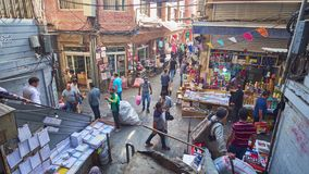 Tijd-tijdspanne van activiteit in Grote Bazaar in Teheran stock video