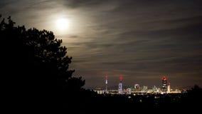 Tijd-tijdspanne van cityscape bij nacht stock footage
