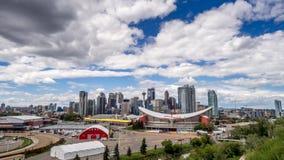 Tijd-tijdspanne van de horizon van Calgary stock videobeelden