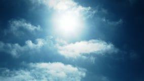 Tijd-tijdspanne Wolken in de Hemel stock videobeelden