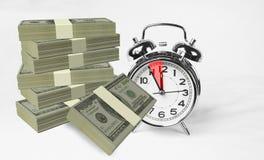 Tijd 5 van gelddollars vijf slechts mintutes royalty-vrije stock afbeeldingen